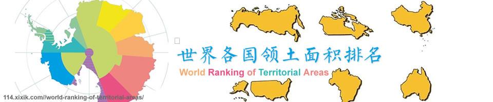 世界各国领土面积排名 - 哪个国家领土面积最大?